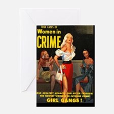 WomenInCrime Cover 4G Greeting Card