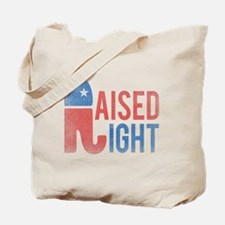 Raised Right Vintage Tote Bag