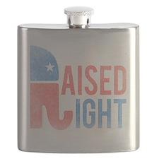 Raised Right Vintage Flask