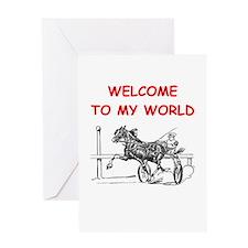 harness racing Greeting Cards
