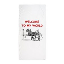 harness racing Beach Towel