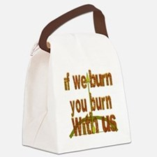 I We Burn Small Arrow Canvas Lunch Bag