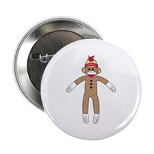 "Sock Monkey 2.25"" Button (10 pack)"