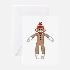 Sock Monkey Greeting Cards