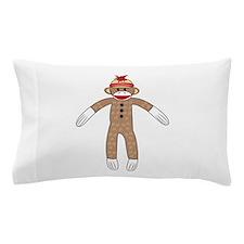 Sock Monkey Pillow Case