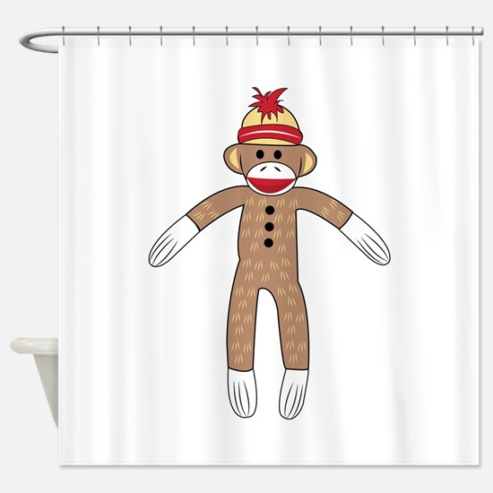 Sock Monkey Shower Curtain
