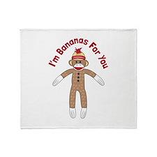 Lil Monkey Throw Blanket