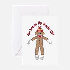 Knock Socks Off Greeting Cards