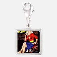 WomenInCrime Cover 5G Silver Square Charm