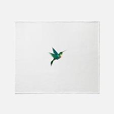 Humming bird Throw Blanket