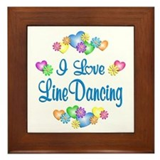 I Love Line Dancing Framed Tile