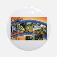 Greetings from Idaho Ornament (Round)