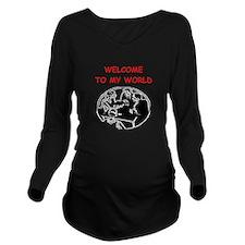 card player Long Sleeve Maternity T-Shirt