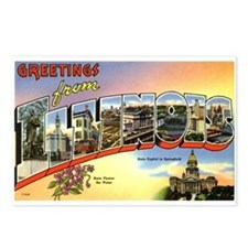 Greetings from Illinois Postcards (Package of 8)
