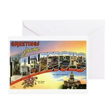 Greetings from Illinois Greeting Cards (Package of