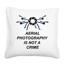 No Crime Square Canvas Pillow