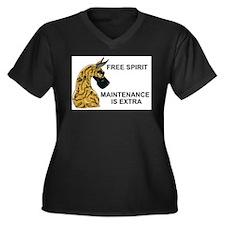 CBrd FSMIE Women's Plus Size V-Neck Dark T-Shirt