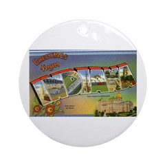 Greetings from Indiana Ornament (Round)