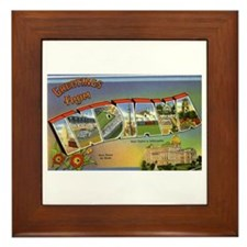 Greetings from Indiana Framed Tile