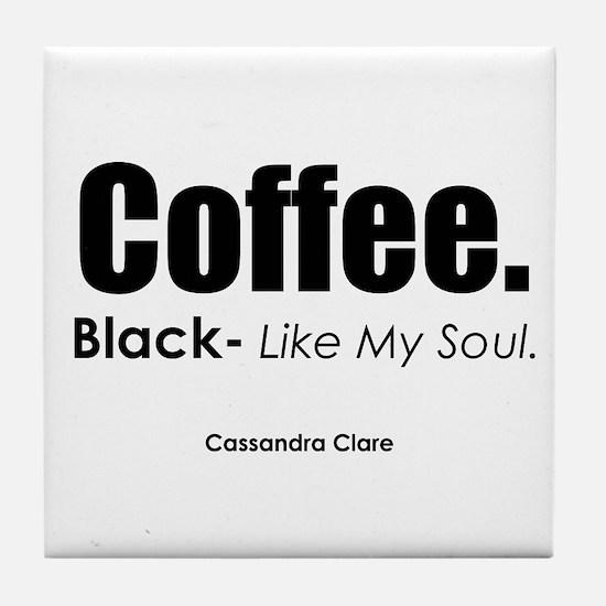 Black Coffee Tile Coaster