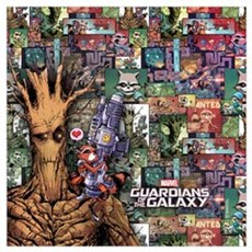Groot Rocket Comic Wall Art Framed Print