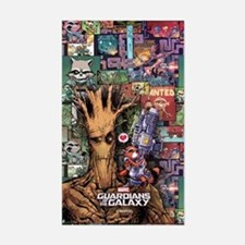 Groot Rocket Comic Sticker (Rectangle)