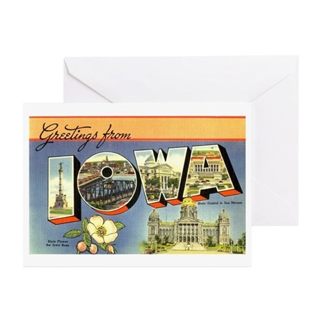 Greetings from Iowa Greeting Cards (Pk of 10)