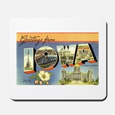 Greetings from Iowa Mousepad