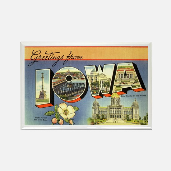 Greetings from Iowa Rectangle Magnet