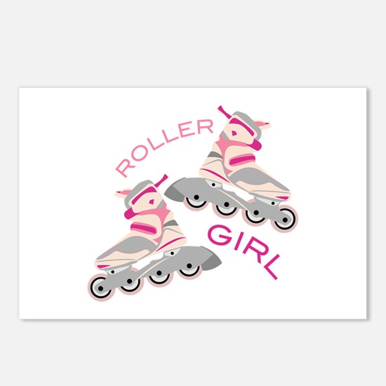 Roller Girl Postcards (Package of 8)