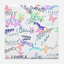 Dancing with butterflies Tile Coaster