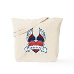 Winged Heart American Tattoo Tote Bag
