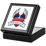Winged Heart American Tattoo Keepsake Box