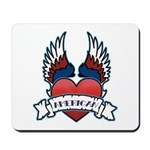 Winged Heart American Tattoo Mousepad