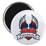 "Winged Heart American Tattoo 2.25"" Magnet (10 pack"