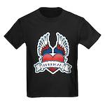 Winged Heart American Tattoo Kids Dark T-Shirt