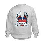 Winged Heart American Tattoo Kids Sweatshirt