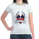 Winged Heart American Tattoo Jr. Ringer T-Shirt