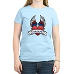 Winged Heart American Tattoo Women's Light T-Shirt
