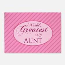 World's Greatest Aunt (Pink) 5'x7'Area Rug