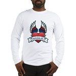 Winged Heart American Tattoo Long Sleeve T-Shirt
