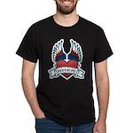 Winged Heart American Tattoo Dark T-Shirt