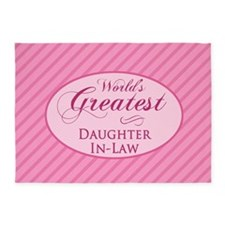 World's Greatest Daughter-In-Law (P 5'x7'Area Rug