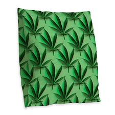 Cannabis Leaves Burlap Throw Pillow