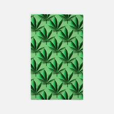 Cannabis Leaves 3'x5' Area Rug
