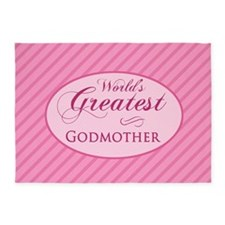 World's Greatest Godmother (Pink) 5'x7'Area Rug