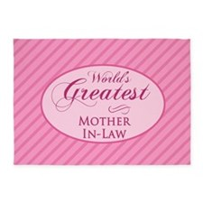 World's Greatest Mother-In-Law (Pin 5'x7'Area Rug