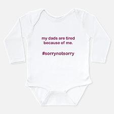 Sorrynotsorrydads Purp Long Sleeve Infant Bodysuit