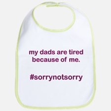 Sorrynotsorrydads Purple Bib