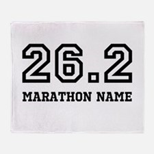 Marathon Name Personalize It! Throw Blanket